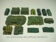 Wargames scenery. Supply dump/base 1/72 scale for 20mm figs. 14 piece. (078)