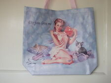 La ragazza con gatti/gattini Shopping Bag