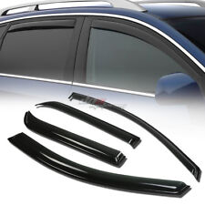 FOR 07-13 ACADIA/OUTLOOK SMOKE TINT WINDOW VISOR SHADE/VENT WIND/RAIN DEFLECTOR