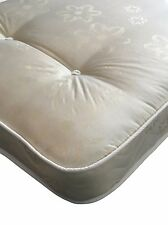 """Double Bed Size Mattress Light Quilted Tufted 135cm x 190cm 7"""" Deep"""