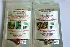 Biologico Zenzero 500 MG + Turmeric & Black Pepper 500 MG Combo Pack 120 capsule di verdura