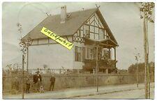Foto als Postkarte um 1908: Stolpe bei Hohen-Neuendorf , Wohnhaus mit Gartenzaun