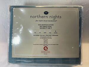 Northern Nights 600TC 6 Piece Sheet Set California King Seaglass Stripes