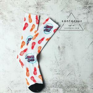 Santa Cruz Men's Pineapple Socks Black and White - Size 9-11 - FREE SHIPPING
