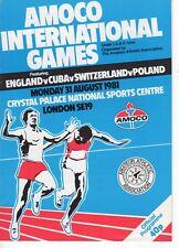 Programa de Inglaterra V Cuba v Suiza v Polonia 31.8.1981 en Palacio de Cristal