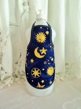 Celestial Moon Star Bathroom Kitchen Decor Dish Soap Bottle Apron - fits 25 oz