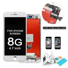"""White For iPhone 8 4.7"""" LCD Display Touch Screen Digitizer Assembly Replacement"""