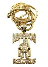 """ICED OUT DEATHROW RECORDS PIECE WITH 36"""" FRANCO CHAIN"""
