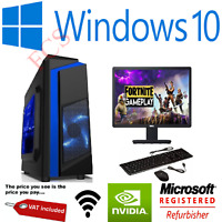 Ultra Fast Quad Core i5 i7 Gaming Desktop PC Bundle 16GB RAM HDD SSD Windows 10