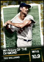 Ted Williams 2020 Topps WARriors of the Diamond 5x7 Gold #WOD-12 /10 Red Sox