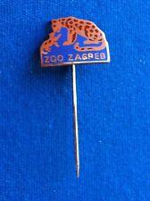 ZOO Zagreb (Croatia)- Old vintage pin badge - crocodile krokodil tiger tigre !
