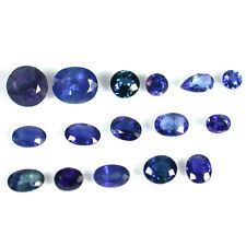 5.49Ct  Precious Mixed Shapes Blue Color Natural Unheated Sapphire 16Pcs *GF01