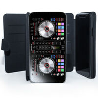 DJ Mix Table Controller Booth Stand Music Wallet Leather Phone Case Cover