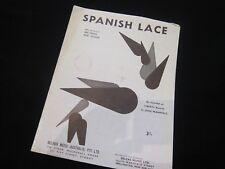 Spanish Lace - Doc Pomus Mort Shuman - Oz Sheet Music -  RARE!!!!!