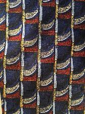 PAULO VISARI Blue Red Gold TIE NECKTIE 100% Silk