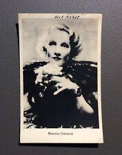 Photo acteur-comédien. Marlène Dietrich. Année 30-50