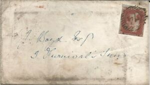GB QV 1853 LOCAL LONDON COVER PENNY RED IMPERF 'KD' PMK! 74 NUM DT 31ST MAY 1853
