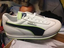 PUMA leather STREET CAT SIZE 3 OR 5.5 UK white GREEN AT £18.60BNWL