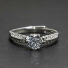 .72ctw Diamond Cut White Sapphire Sterling Silver Adjustable Ring