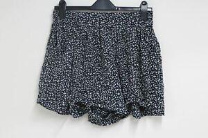 CLUB MONACO Ladies Navy Blue Silk Elasticated Waist Spotted Shorts Size 28