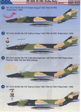 "Print Scale Decals 1/72 RF-101C VOODOO 45th TRS ""Polka Dots"" in Vietnam"