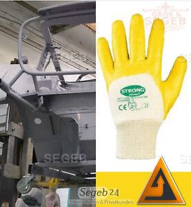 1-6 Nitril Kfz Handschuhe Gelb Werkstatt Industrie Montage Arbeitshandschuhe