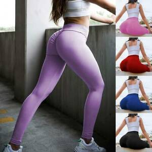 Sexy Damen Butt Lift Yoga Hosen H¨¹fte Push up Legging Fitness Workout Stretch