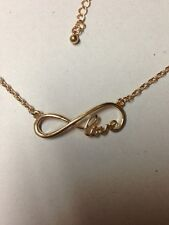 Gold Infinity Love Necklace SALE!