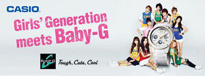 CASIO Girls' Generation Meets Baby-G Official Catalog Poster *LET ME WINK