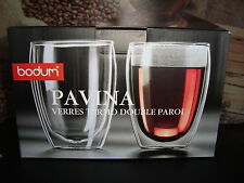 Bodum Pavina Double-Walled 350ml & 80ml Glass Set 4 pcs / Hot & Cold