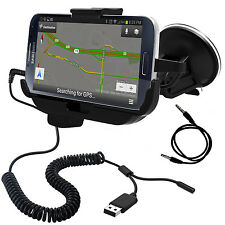 For Samsung Galaxy Note II: Car Charging Dock (Black)  With/Without a slim case