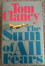 1991 SUM OF ALL FEARS Tom Clancy FIRST Limited EDITION 1st PRINTING HardCover DJ
