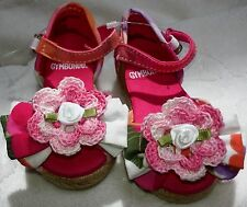 NEW GYMBOREE PINK SANDALS SHOES w/ROSE GIRLS BABY INFANT NEWBORN 3 MONTHS SIZE 1