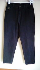 Ladies Black WRANGLER Relaxed Straight Leg Jeans 12 x 30