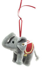 Steiff 006050 Weihnachtselefant Ornament Baumwollsamt 10 Cm grau