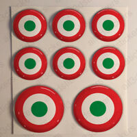 Italy Stickers Roundel Cockade Rond 3D Resin Domed Air Force Sticker Adhesive