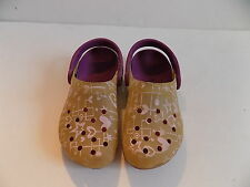 Kids Crocs Chameleon Color Changing Clogs With Hearts & Stars US Size C 12/13