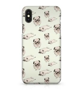 Cute Pug Puggy Dog Puppy Pattern Animal Pets Playful Happy Phone Case Cover