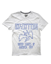 Led Zeppelin 'Tour 1977' T-Shirt (White) - Amplified Clothing - NEW & OFFICIAL!