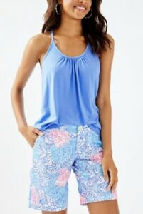 Lilly Pulitzer Chipper Short Blue Haven Raising Shell, multiple sizes NWT $78