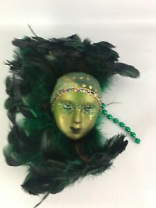 Unique Small Art Deco Lady Face Mask Wall Hanging Decor