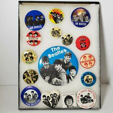 The Beatles Rare Vintage Pin Collection Lot Of 16