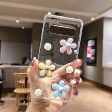 For Samsung galaxy S20+ S10+ note 20 Ultra Cute Glitter Clear flowers phone case