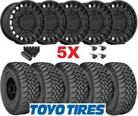 FUEL MILITIA BLACK WHEELS RIMS TIRES 35 12.50 20 TOYO MT GLADIATOR WRANGLER