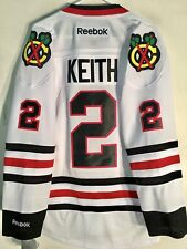 Reebok Premier NHL Jersey Chicago Blackhawks Duncan Keith White sz L