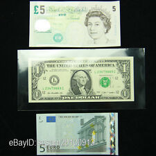 100pcs Large Paper Money Currency Stamp Postcard Protect Sleeves 19*9CM Holders