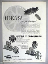 Ampro 16mm Sound Film Projectors PRINT AD - 1953