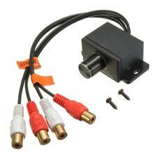 Car Home Audio Amplifier Bass RCA Gain Level Volume Control Knob LC-1 Black J5L8