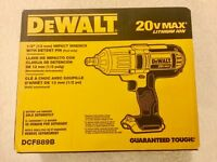 "New Dewalt DCF889B 1/2"" 20V Max Cordless High Torque Impact Wrench w/ Detent Pin"