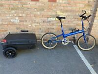 Bike Friday Folding Bicycle with Trailer/Travel Case Size Small